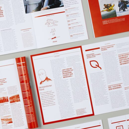 Editorial Design für SIX Magazin