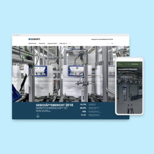 Responsive Screen Design für Geberit Geschäftsbericht