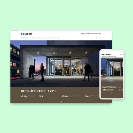 Responsive Design Geschäftsbericht 2019