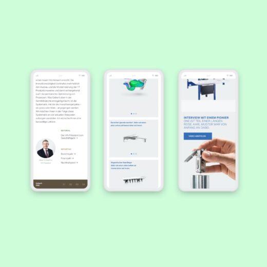 Mobile Screen Design für den digitalen Geschäftsbericht