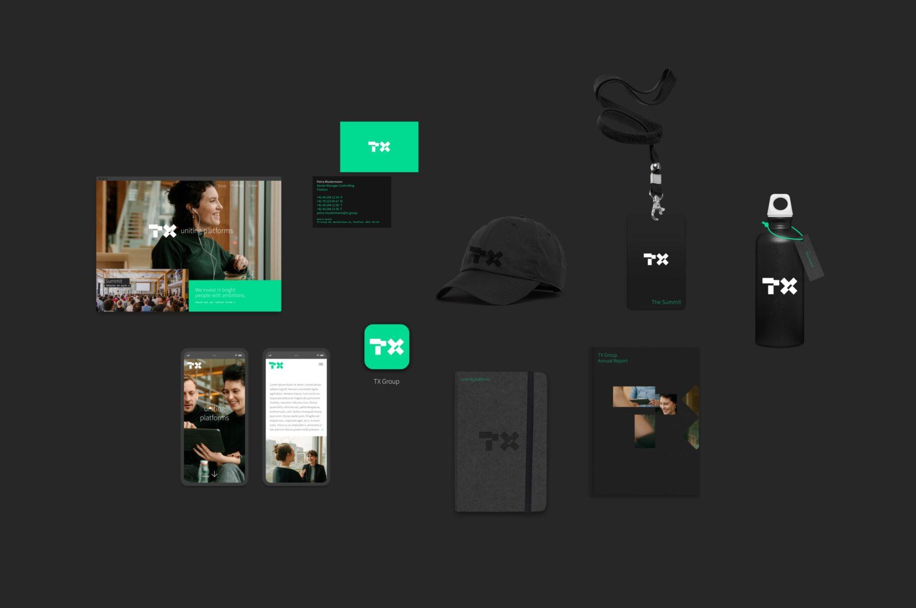 Branding Anwendungen TX Group