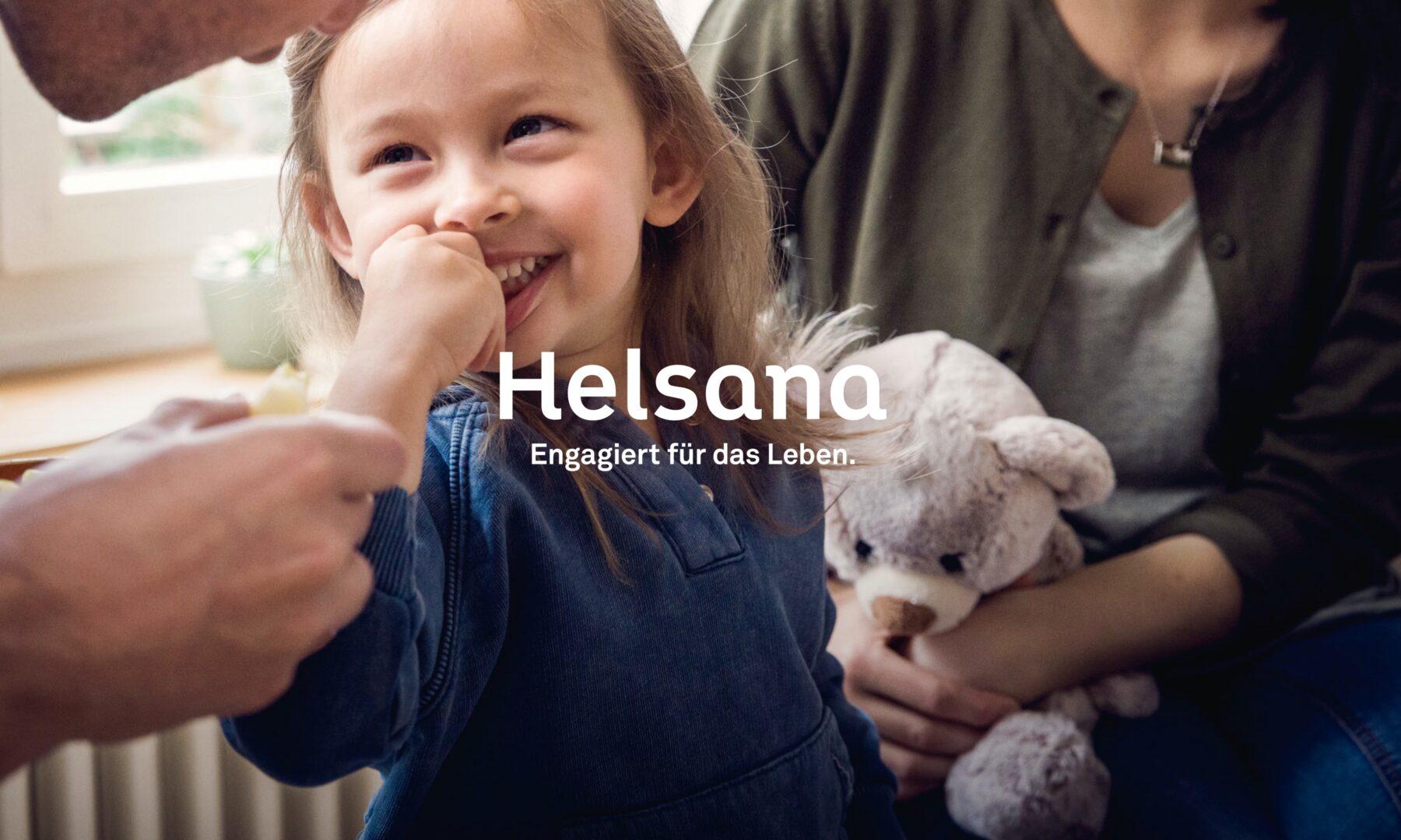 Helsana Rebranding Logo und Bildwelt