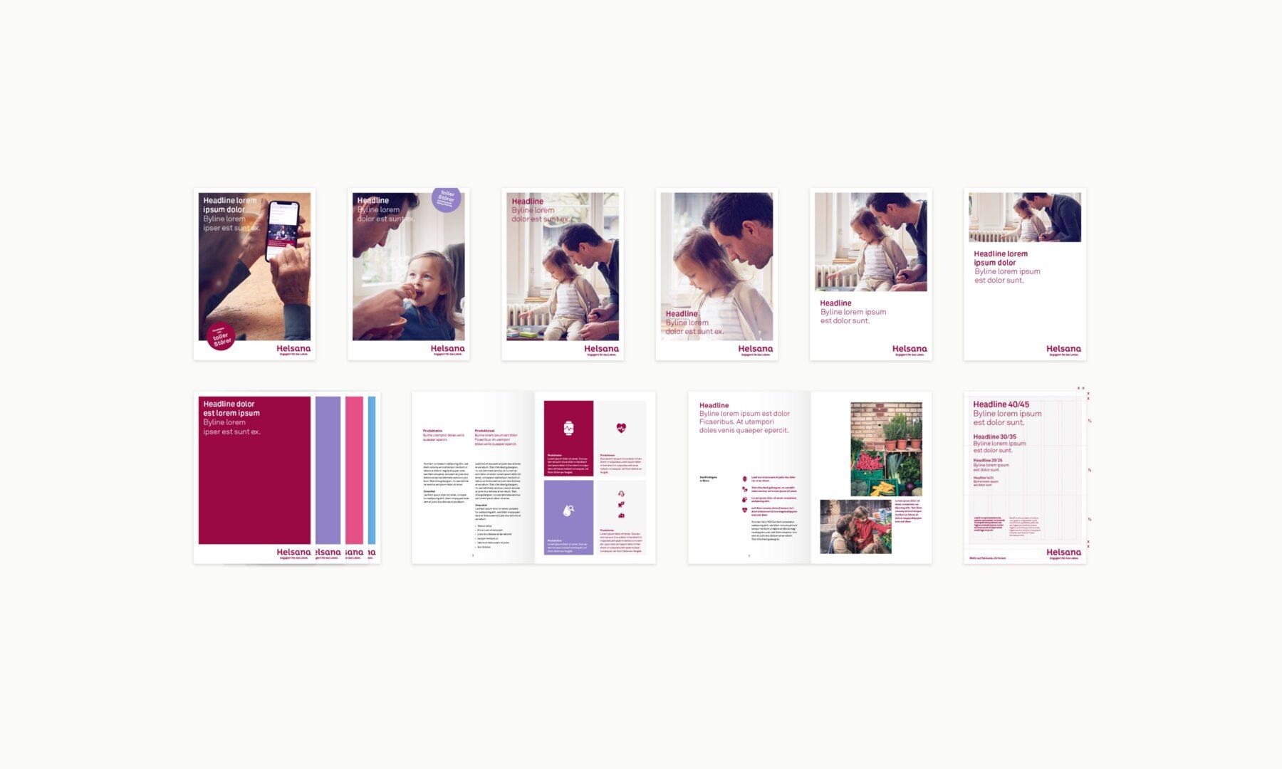 Brand Design System für Helsana