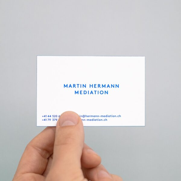 Martin Hermann Visitenkarte Print Design