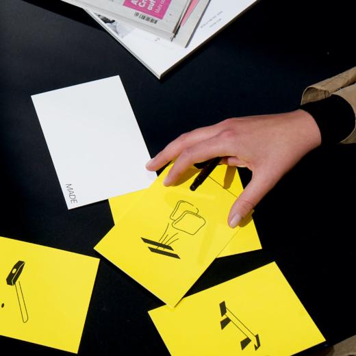 Illustration Postkarten Hand