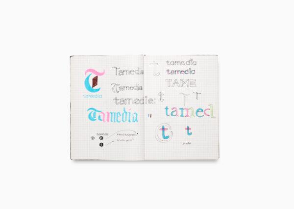 Tamedia Logo Design Skizzen