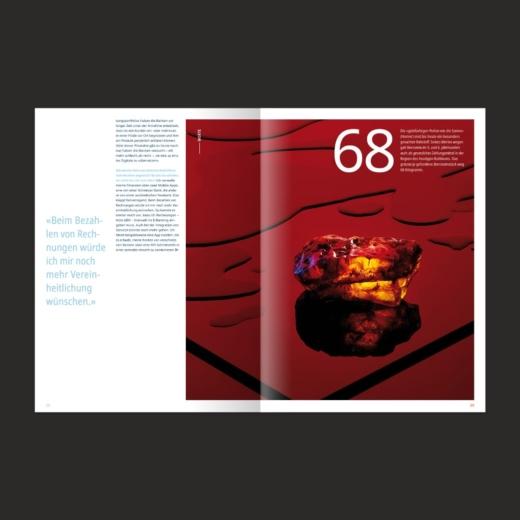 SIX PAY Magazin Editorial Design Werte