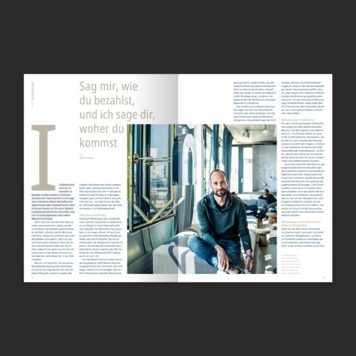 SIX PAY Magazin Editorial Design zu Besuch bei