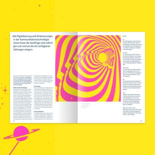 Layout Editorial Design für SIX
