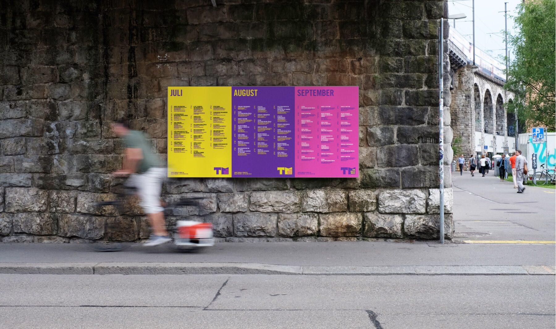 Poster Design für Tonhalle Maag Branding
